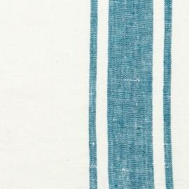 Stoff Marine Blue Leinen Toskana vorgewaschen