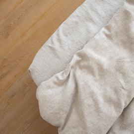 Natural Leinen Bettlaken mit Gummizug Crushed