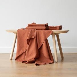 Set mit 4 Rust Leinen Handtüchern Wafer