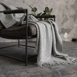 Grau Wolle Decke Tito