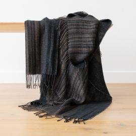 Black Stripe Leinen Decke Paolo
