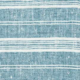 Fabric Marine Blue Linen Multistripe