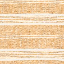 Fabric Gold Linen Multistripe Prewashed
