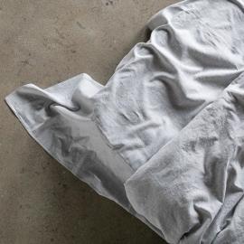 Graphite Bettlaken Leinen Pinstripe Washed