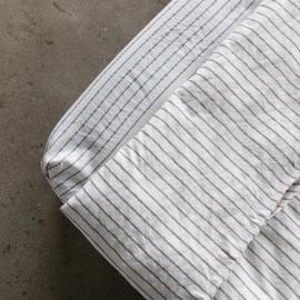 Graphite Bettlaken Mit Gummizug Aus Leinen Stripe Washed
