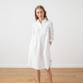 Marine Blue Leinen Kleid Camilla