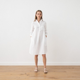White Leinen Kleid Camilla