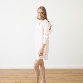 Pink Pinstripe Nachthemd Leinen Alma