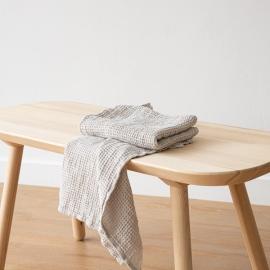 Leinen Waffel Big Handtuch Set Silver