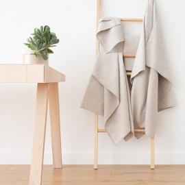 Natürliche Leinen Baumwolle Mix Badetücher Set Wafer