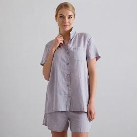 Steel Grey Pyjama Leinen Emilia