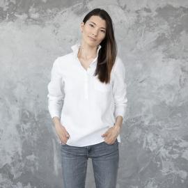 Weißes Leinenhemd Fabio