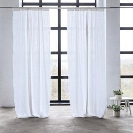 Leinen Vorhang mit Tunnelzug Optical White Terra Fringe