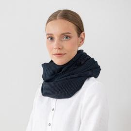 Navy Wolle Schal Fabiene