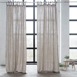 Leinen Vorhang mit Schlaufen Natural Rustico Washed