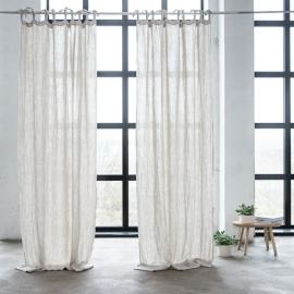 Leinen Vorhang mit Schlaufen Oatmeal Rustico Washed