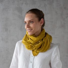 Mustard Leinen Sommerschal Garza