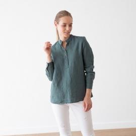 Balsam Green Leinen Hemd Toby