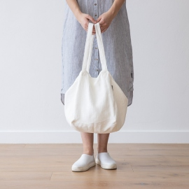Strandtasche Off White Leinen Lara