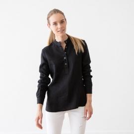 Black Leinen Hemd Toby