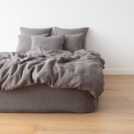 Gewaschene Bettwäsche Duvet Graphite