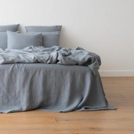 Gewaschene Bettwäsche Duvet Slate Blue