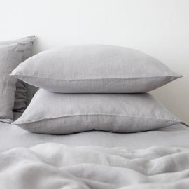 Gewaschene Bettwäsche Kopfkissenbezug Cool Grey