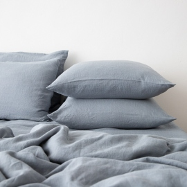 Gewaschene Bettwäsche Kopfkissenbezug Slate Blue