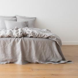 Gewaschene Bettwäsche Bettlaken Cool Grey