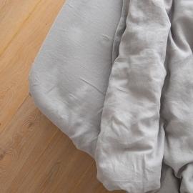 Gewaschene Bettwäsche Bettlaken mit Gummizug Cool Grey