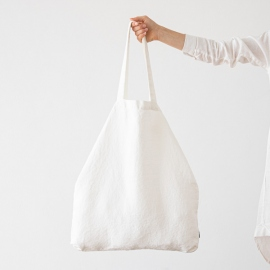 Leinen Einkaufstasche Terra Off White
