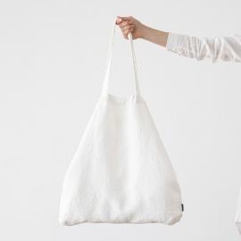 Leinen Einkaufstasche Terra Optical White