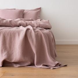 Gewaschene Bettwäsche Bettlaken Dusty Rose