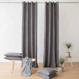 Leinenvorhang mit Ösen Terra Steel Grey