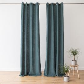 Leinenvorhang mit Ösen Terra Balsam Green