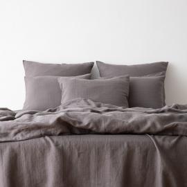 Gewaschene Bettwäsche Bettset Graphite