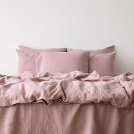 Gewaschene Bettwäsche Bettset Dusty Rose