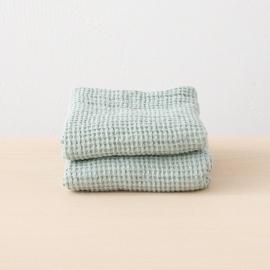 Leinen Waffel Big Handtuch Set Sea Foam