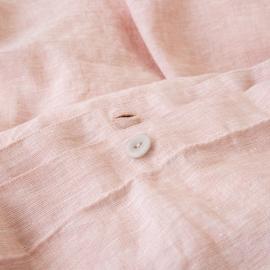 Leinen Bettbezug Gewaschene Melange Rosa