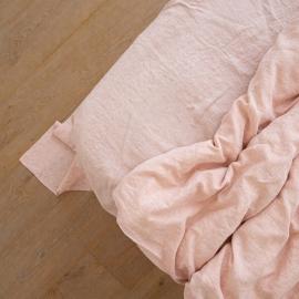 Leinen Bettlaken Gewaschene Melange Rosa