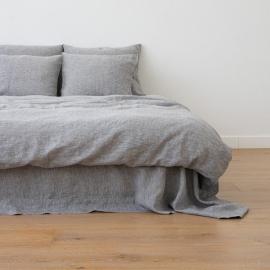 Leinen Bettbezug Gewaschene Melange Graphite