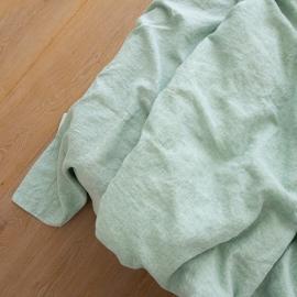 Leinen Bettlaken Gewaschene Melange Mint