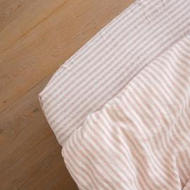 Leinen Bettlaken Mit Gummizug Ticking Stripe Rosa