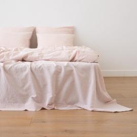Leinen Bettlaken Pinstripe Washed Rosa