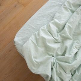 Leinen Bettlaken Mit Gummizug Pinstripe Mint
