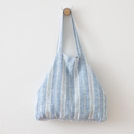 Leinen Strandtasche Multistripe Blue