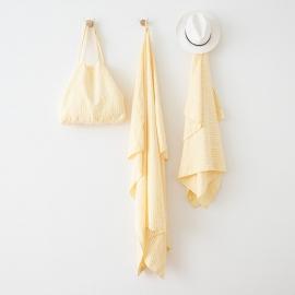 Leinen Strandtücher Brittany Yellow