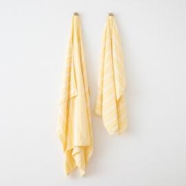 Leinen Strandtücher Multistripe Yellow