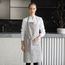 Brittany Leinen Latzschürze Black Natural
