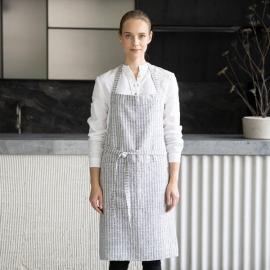 Brittany Leinen Latzschürze Indigo Natural